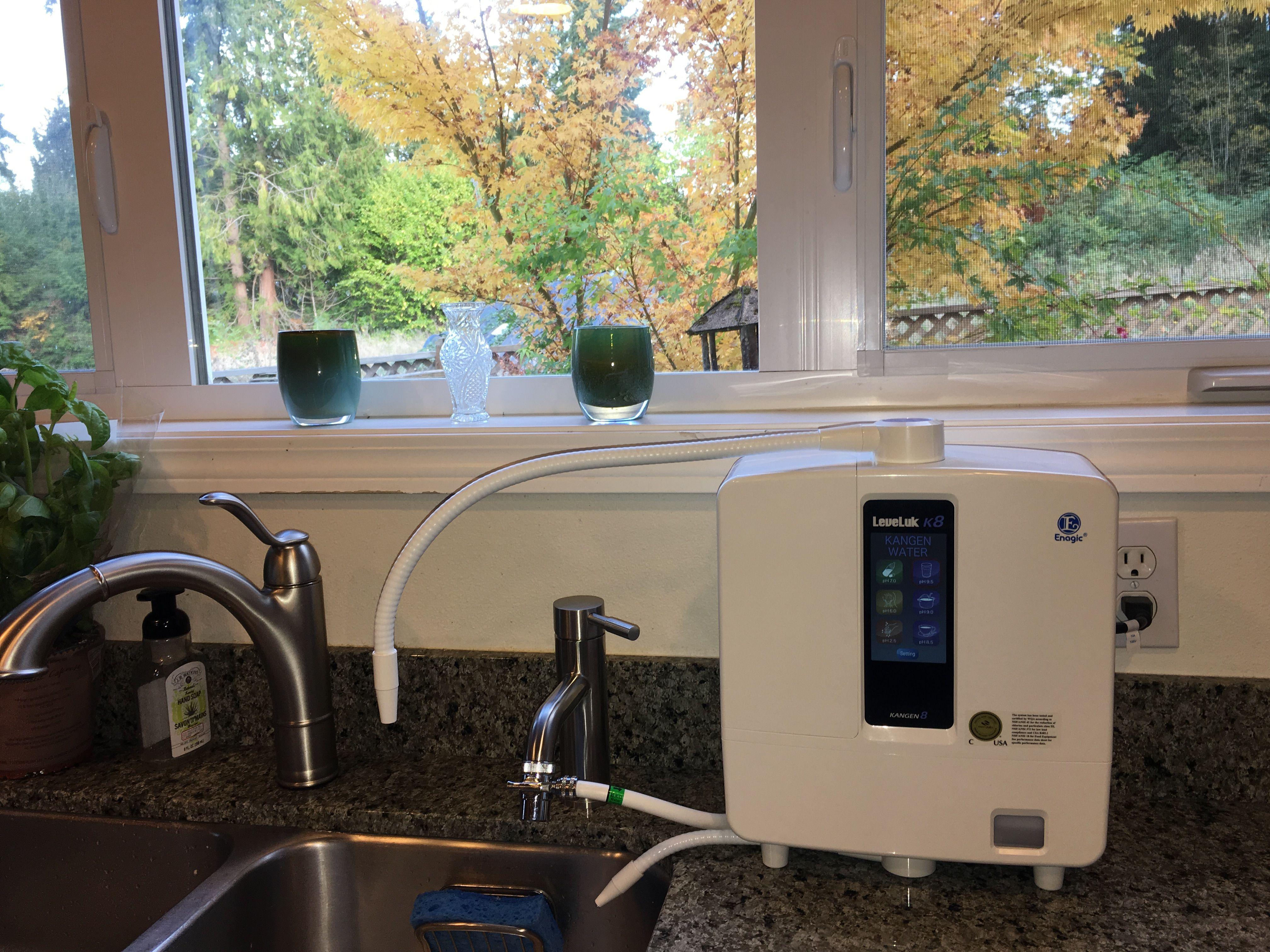 Enagic K8 Kangen Water Setup In Kitchen With Separate Faucet Kangenwater Enagic Changeyourwaterchangeyourlife Kangen Water Alkalized Water Kangen