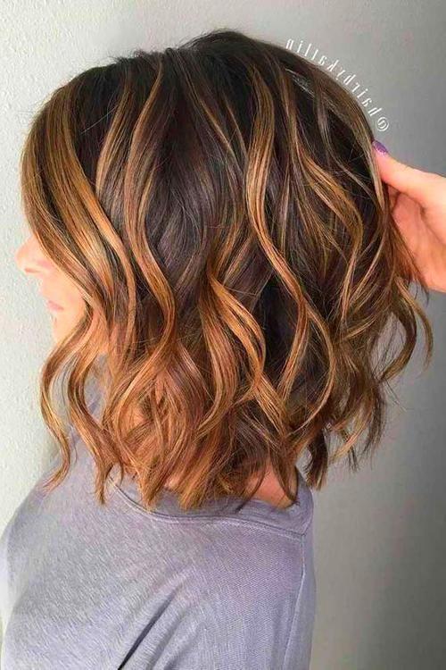 Medium Length Haircut In 2020 Short Hair Balayage Brown Hair Balayage Thick Hair Styles
