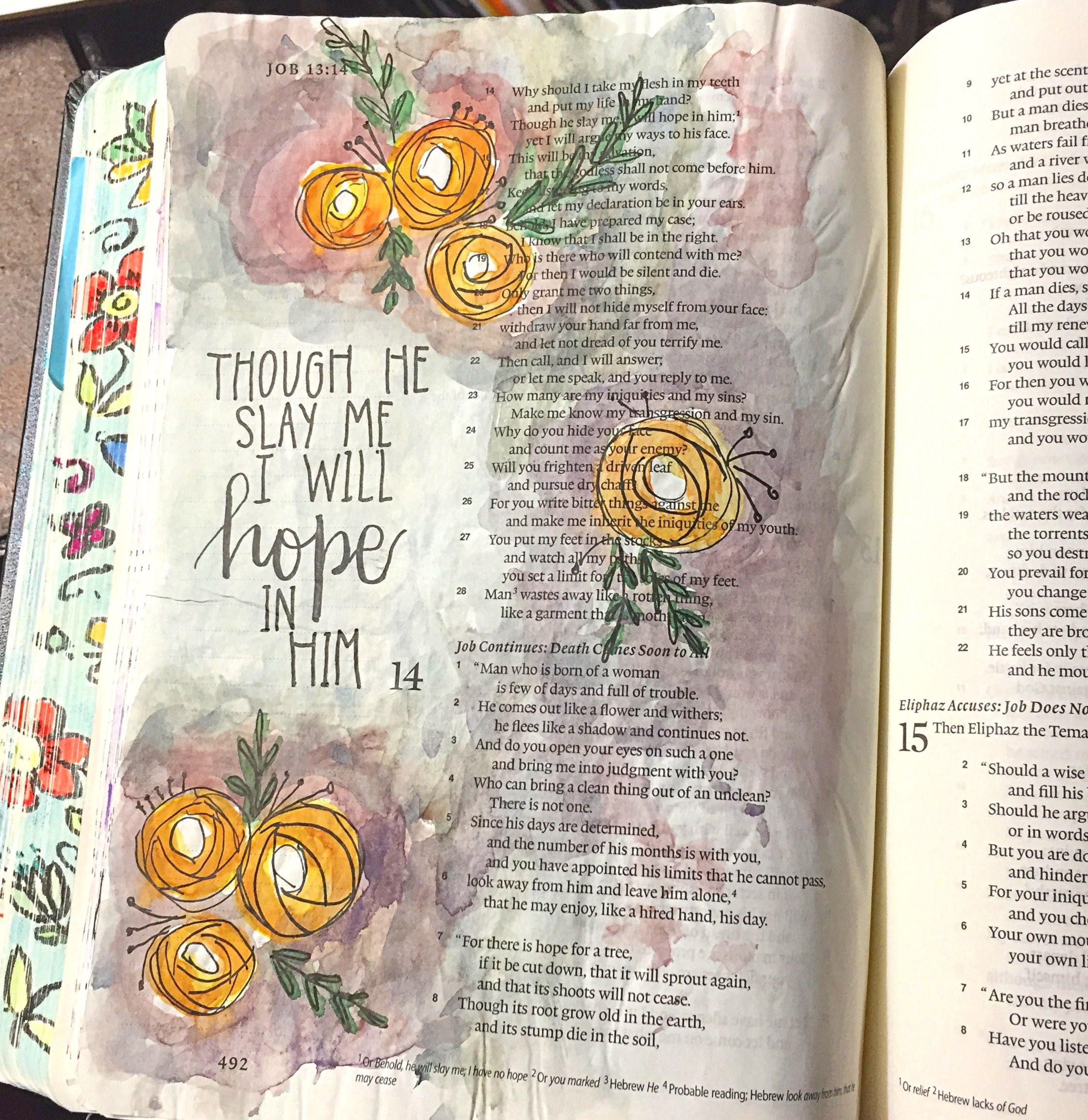 Job 1315 bible art journaling by patjournals