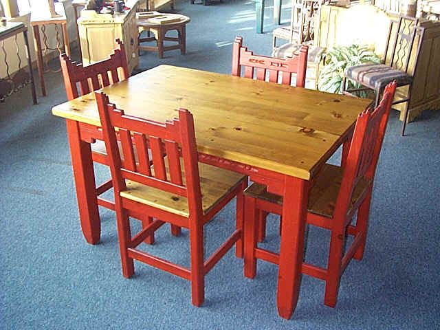 New Mexico Southwest Style Dining Set Tables Chairs China Cabinets