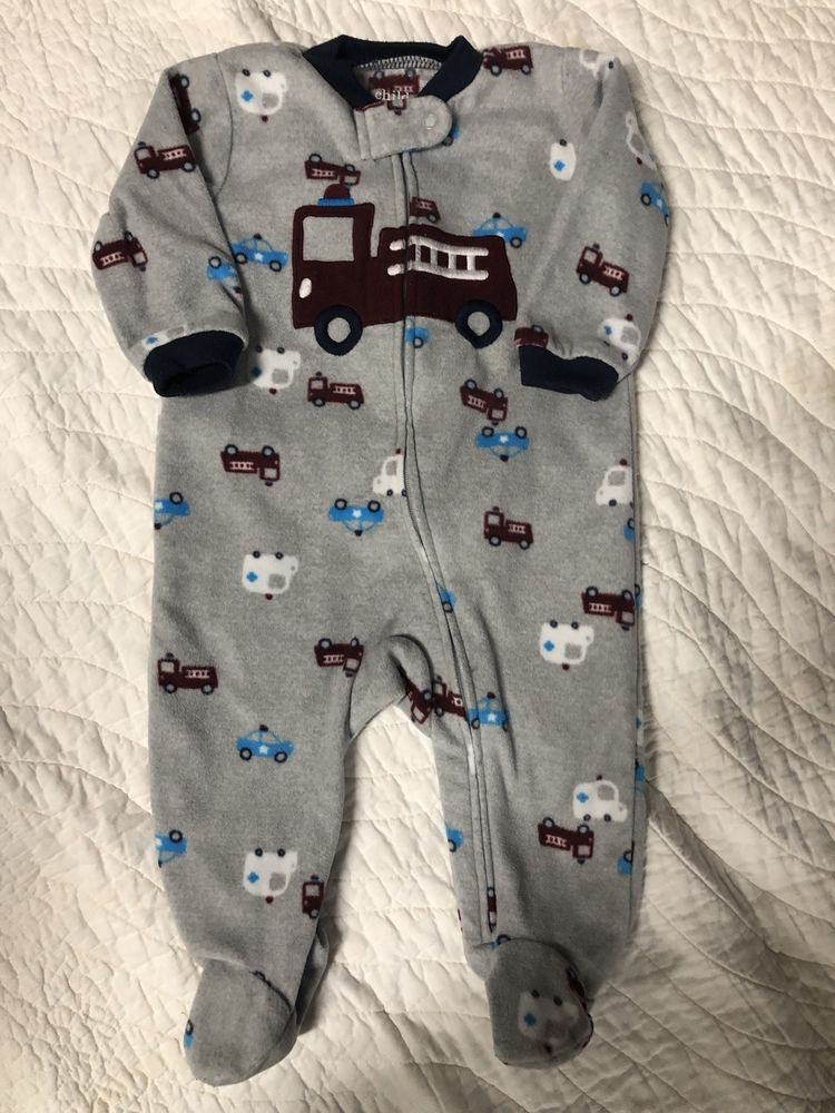 778ae0e8c Carters Baby Boy Sleep Footed Pajamas Lot Of 4 Size 3-6 Months ...