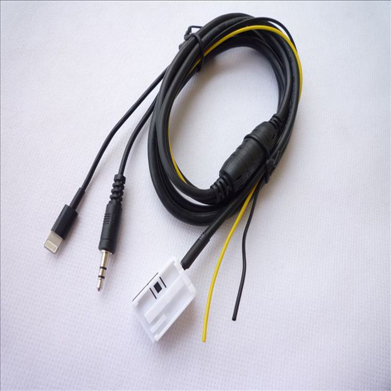 car aux input adapter audio cable for benz mercedes. Black Bedroom Furniture Sets. Home Design Ideas