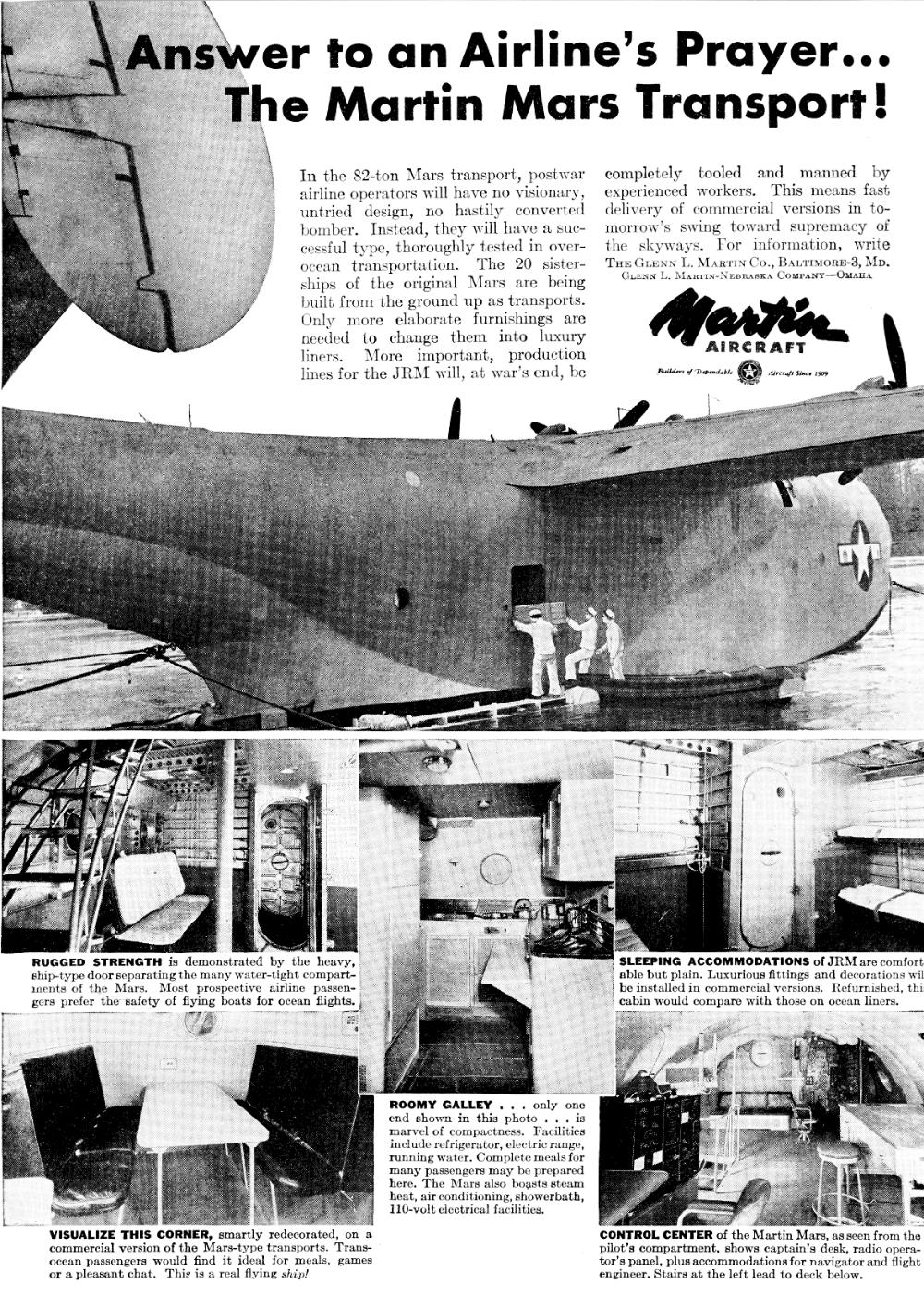 Litot Mars Index Cargo Transport Flying Boat Planner Writing