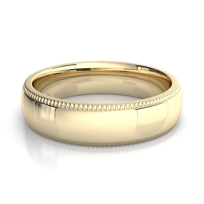 Mens Gold Band Wedding Ring Obrczki Wedding Rings Pinterest