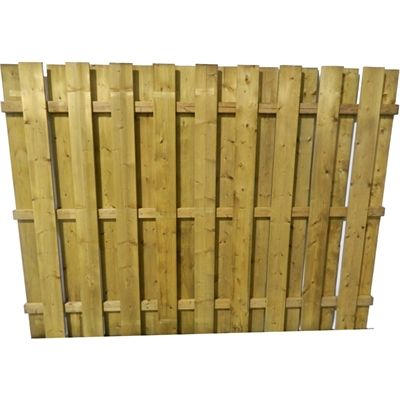 shadow box fence panels ft treated flat top panel picket calculator layout