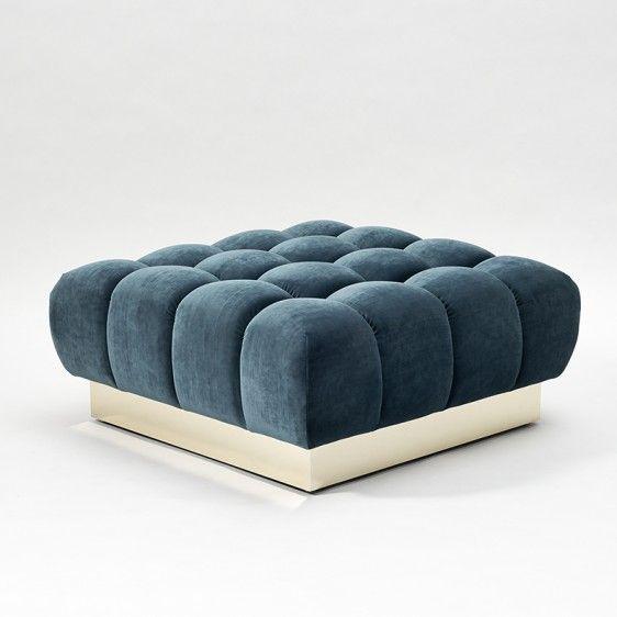Asiento en terciopelo azul con base dorada. | Sentarse | To sit ...