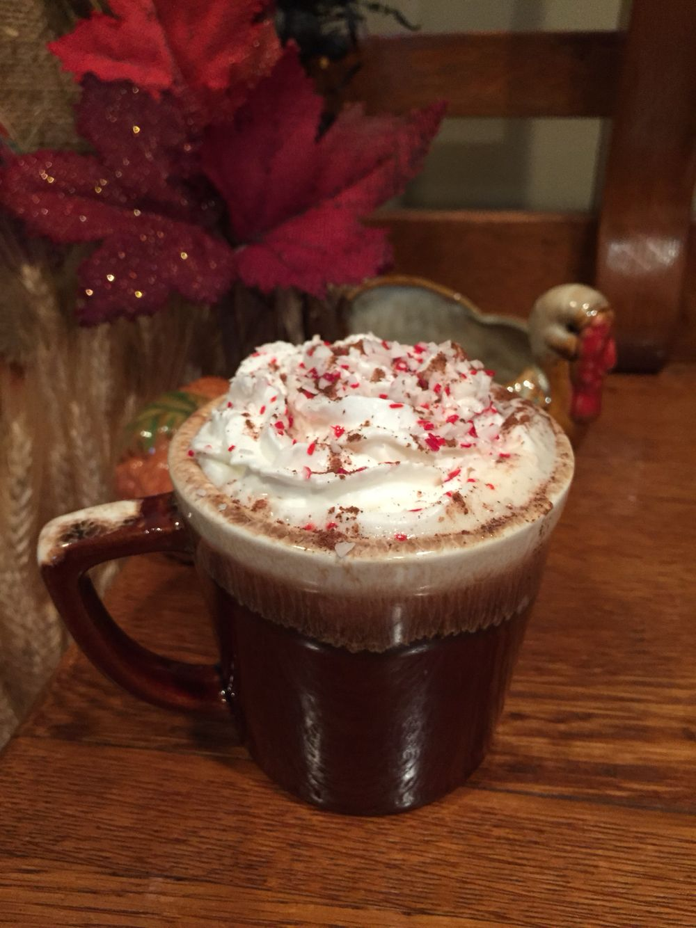 Our holiday coffee. Add favorite creamer. Top with whipped