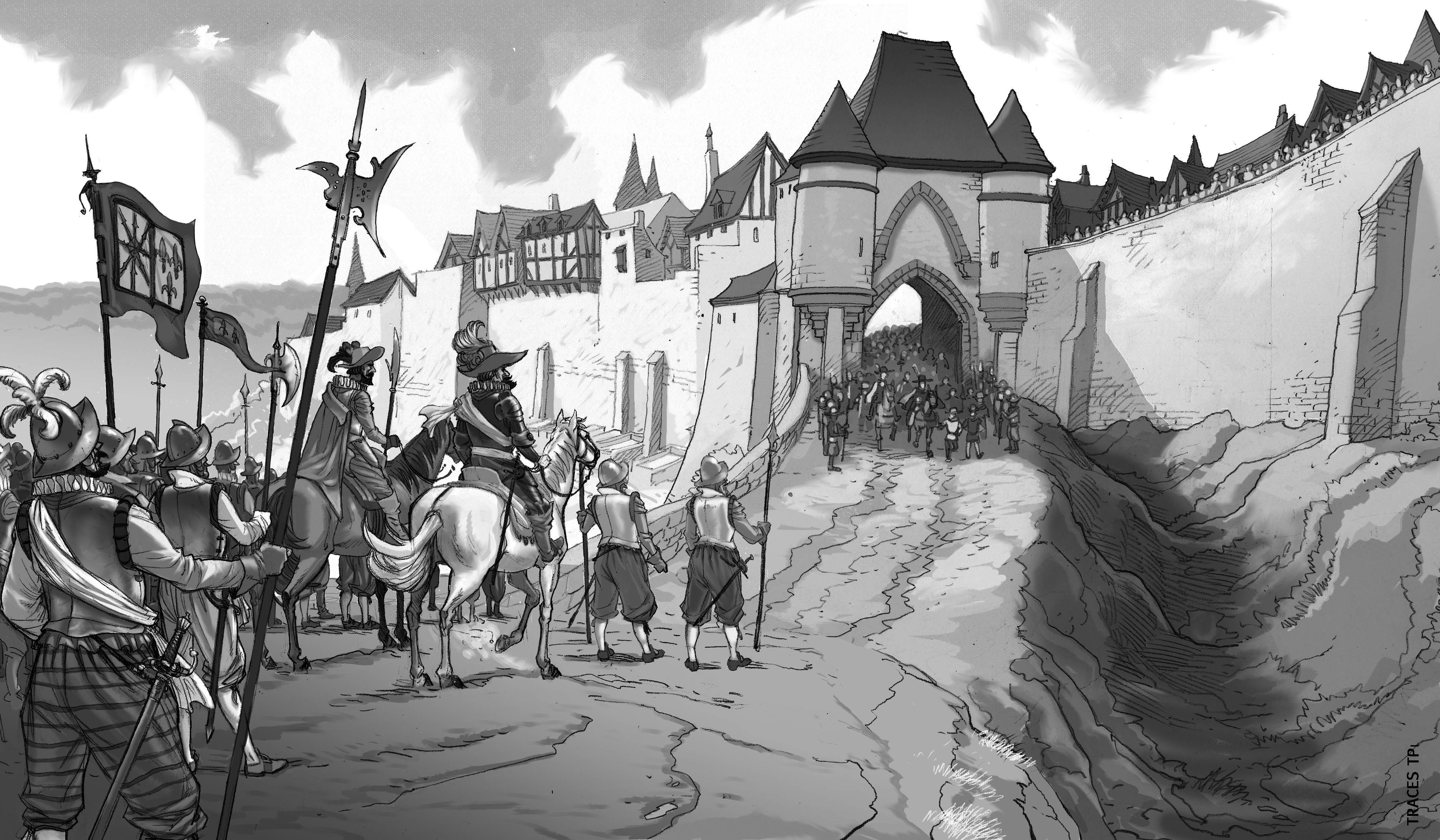 Entrée des troupes d'Henri IV par la porte d'Ardon.
