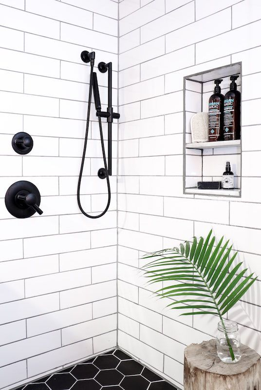 Get a load of this Scandi-inspired laundry room and bathroom
