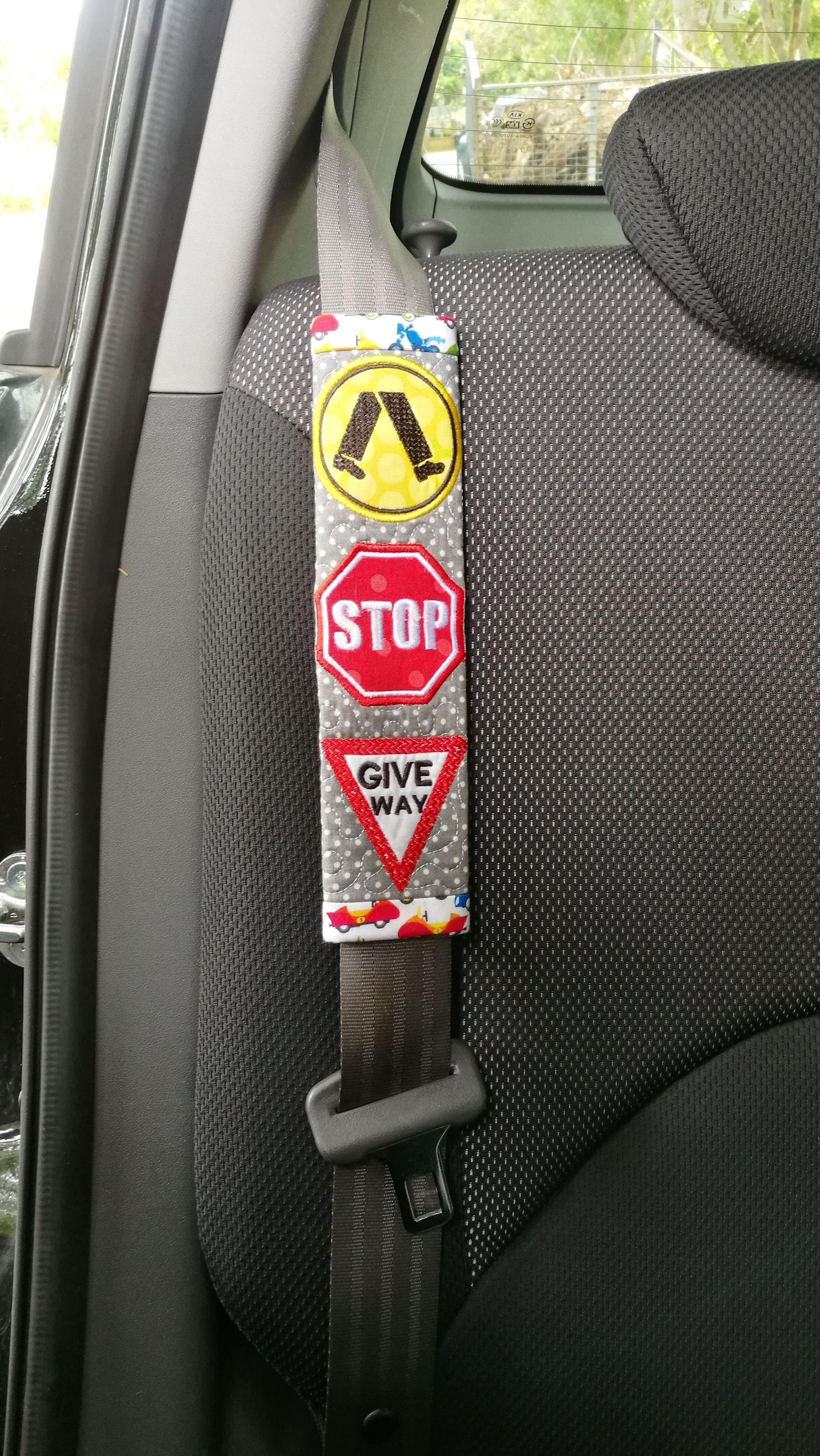 2 Car Safety Seat Belt Pads Soft Shoulder Strap Cover Cushion Truck Auto Beige