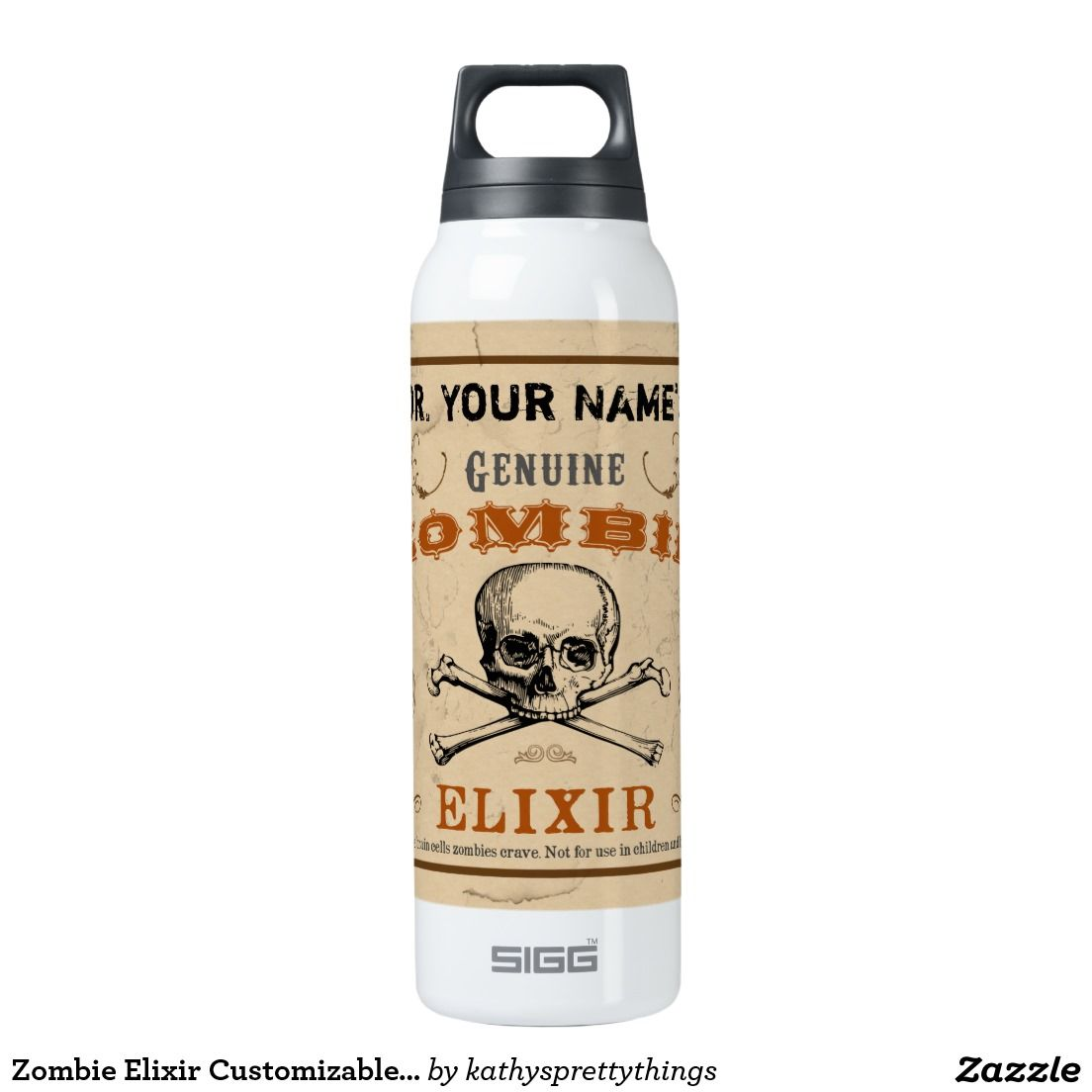 Zombie Elixir Customizable Thermos Insulated Water Bottle | Water ...