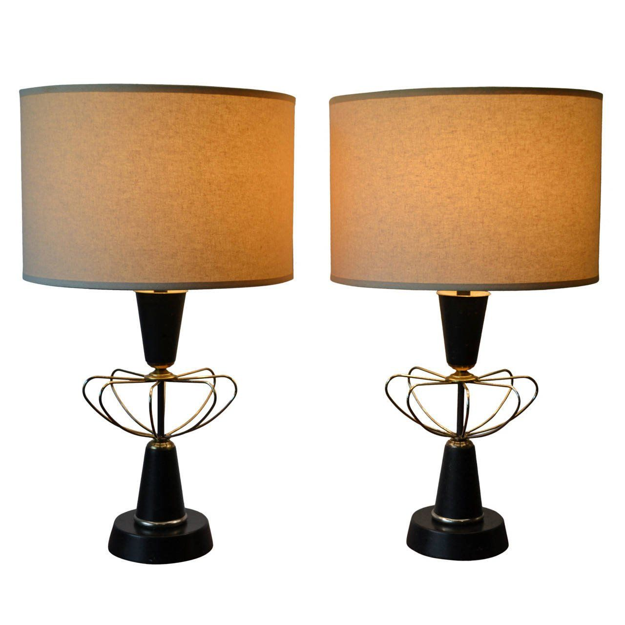 Atomic Age Table L&s in the Manner of Paul McCobb at 1stdibs  sc 1 st  Pinterest & Atomic Age Table Lamps in the Manner of Paul McCobb at 1stdibs ...