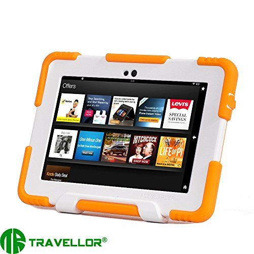 Travellor Series Kindle Fire Hdx 7 Cover Case New Hot Item High Quality Slim Fit Silicone Plastic Dual Protective Back C Kindle Fire Kids Mini Case Ipad Kids