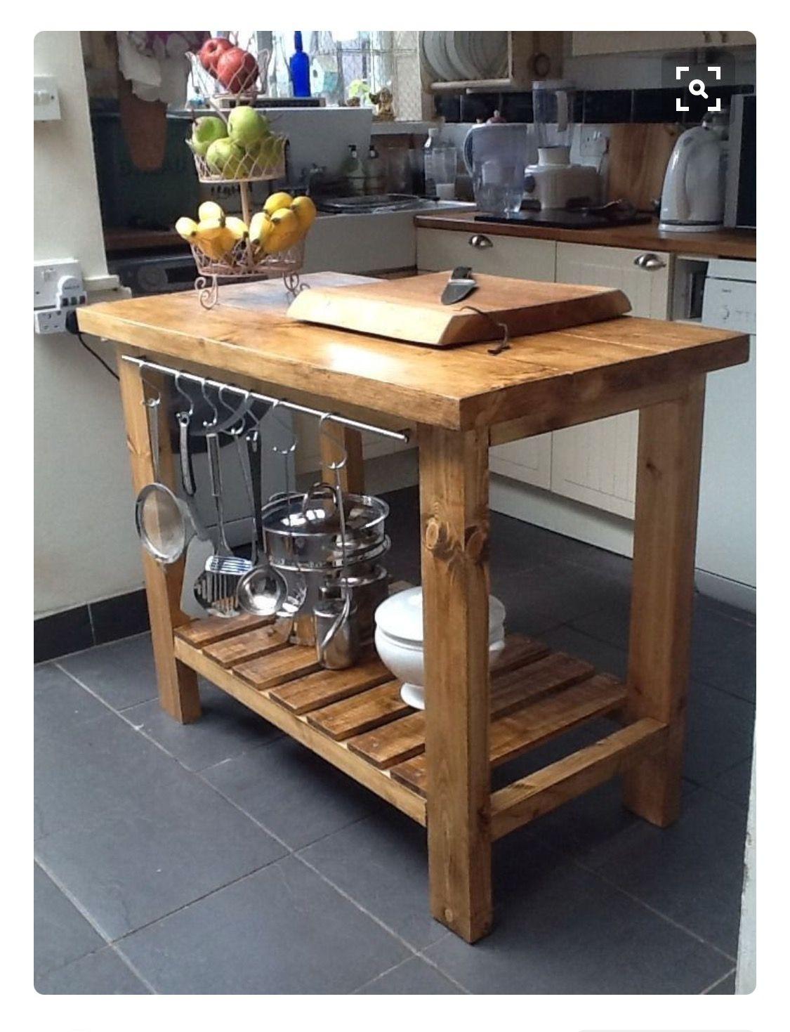Kitchen cart | rústico | Pinterest