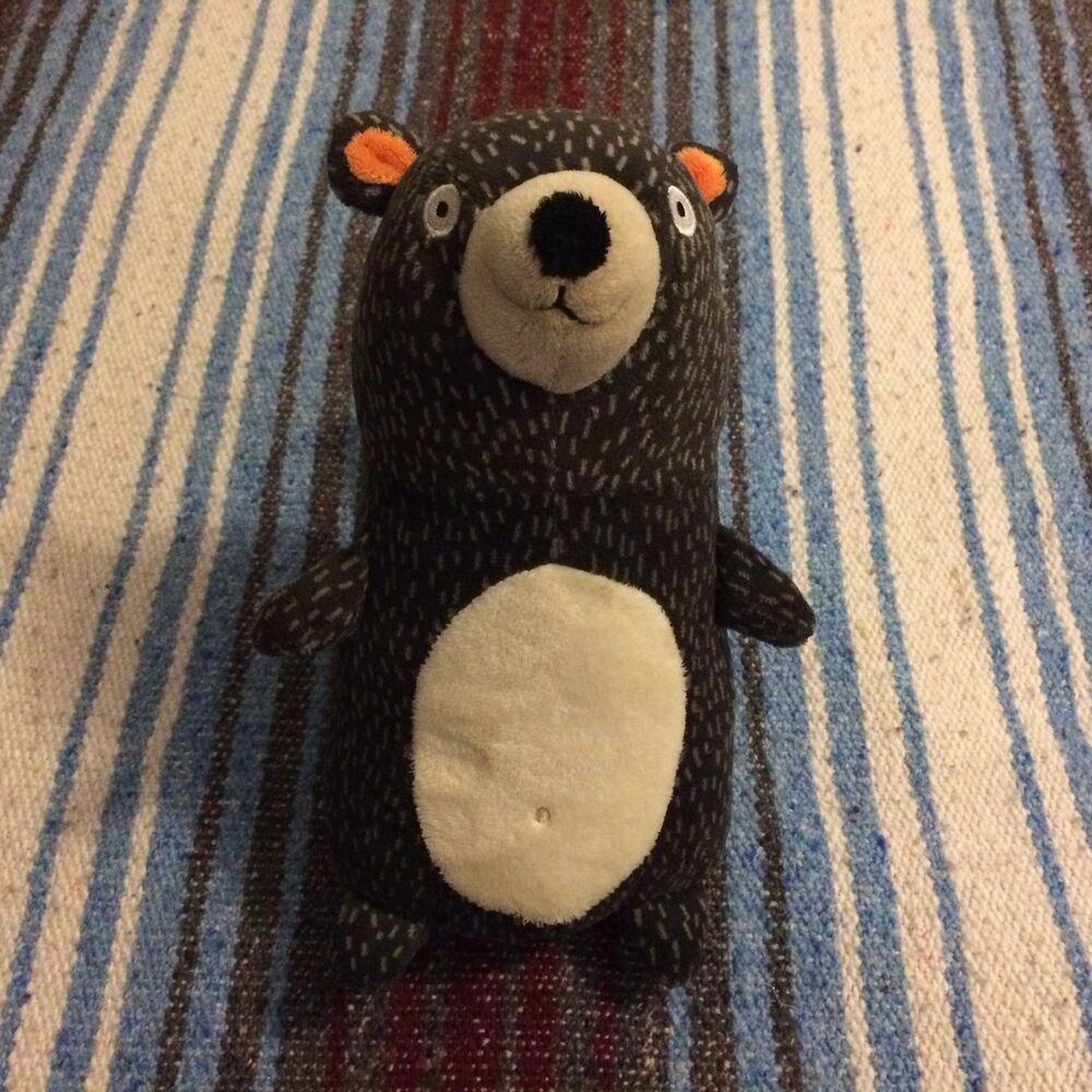 Circo Target Pillowfort Forest Bear Black 10 Orange Plush Stuffed