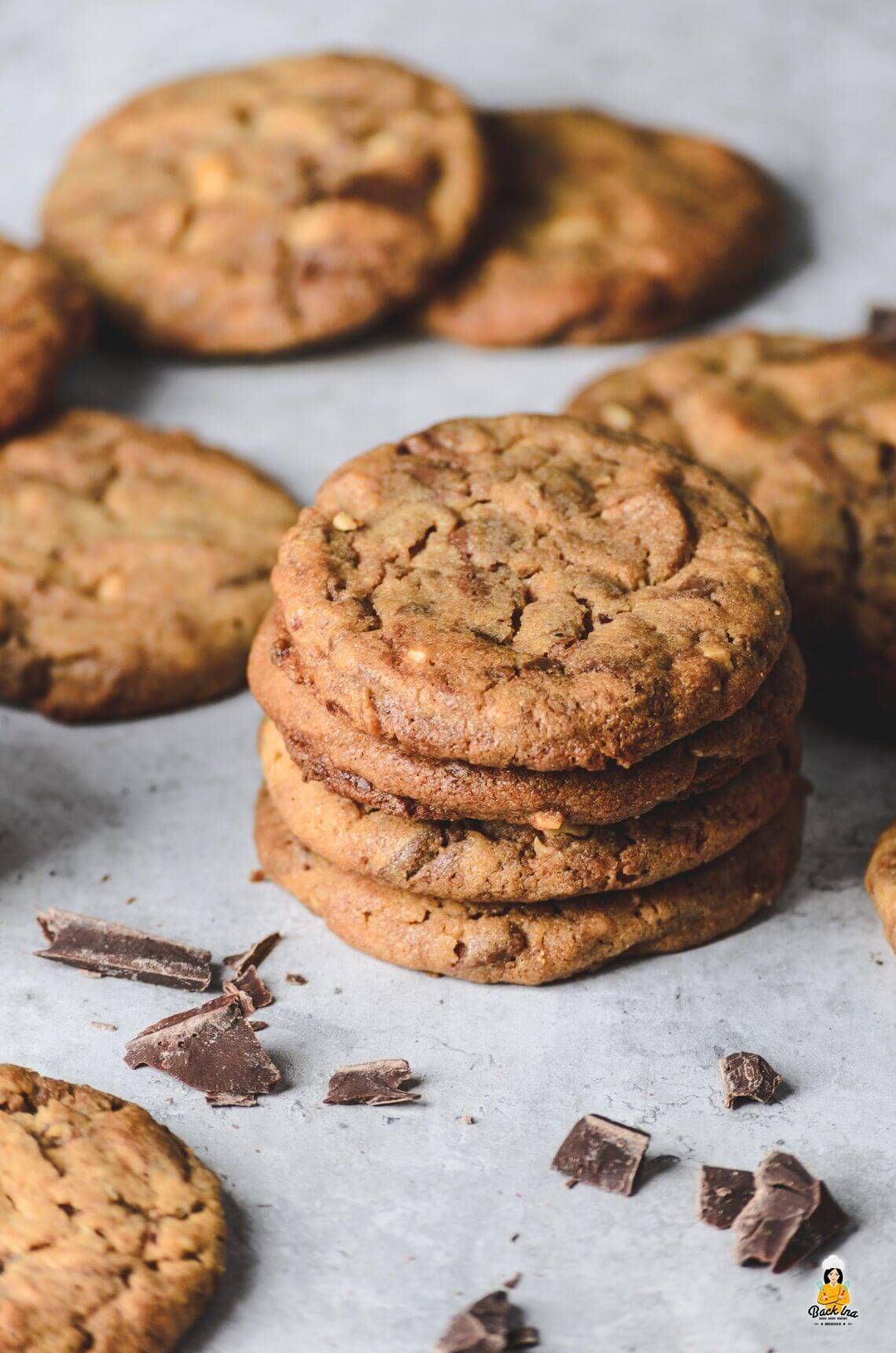 Weiche Erdnussbutter Cookies mit Nutella Swirl | BACKINA