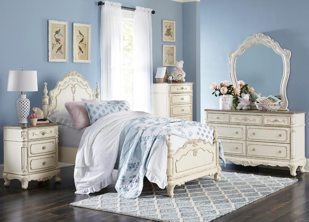 Homelegance Cinderella Collection Model 1386tnw Bedroom Set Twin Bedroom Sets Traditional Kids Bedroom