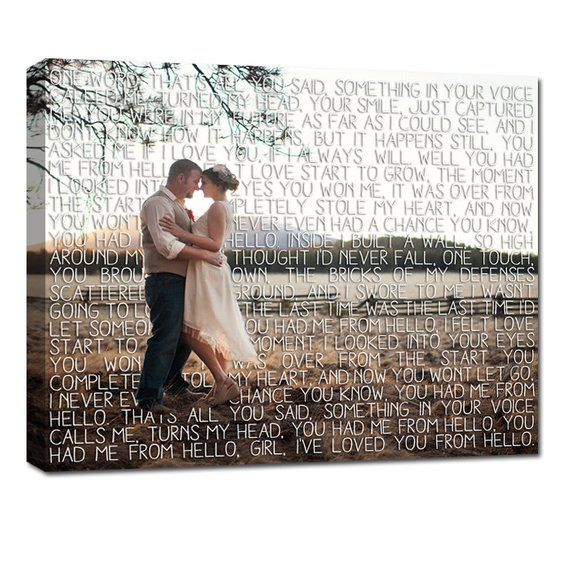 Story Wedding Ceremony Processional Music Song Ideas: Gift Ideas First Dance Lyrics/ Custom Canvas / Your