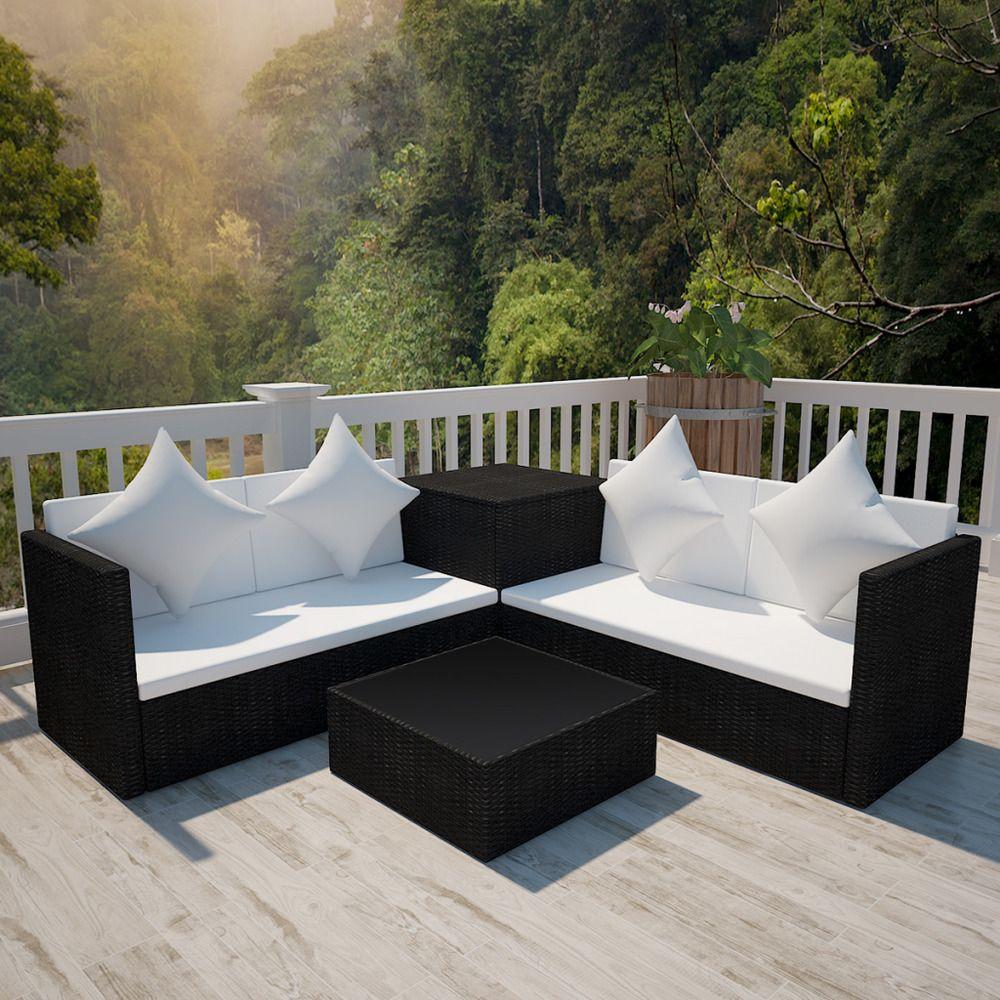 Details about piece sofa set garden outdoor lounge set poly