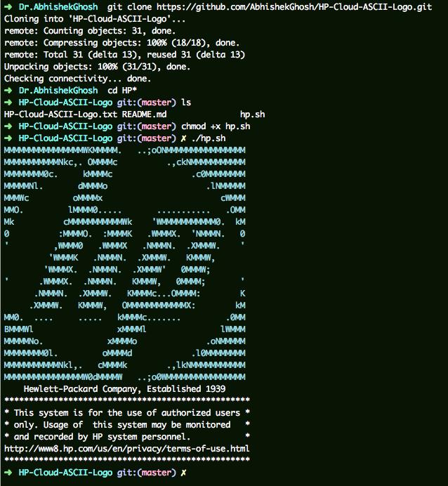 HP ASCII Logo on SSH Pre-Login (HP Cloud, Ubuntu) | Cloud