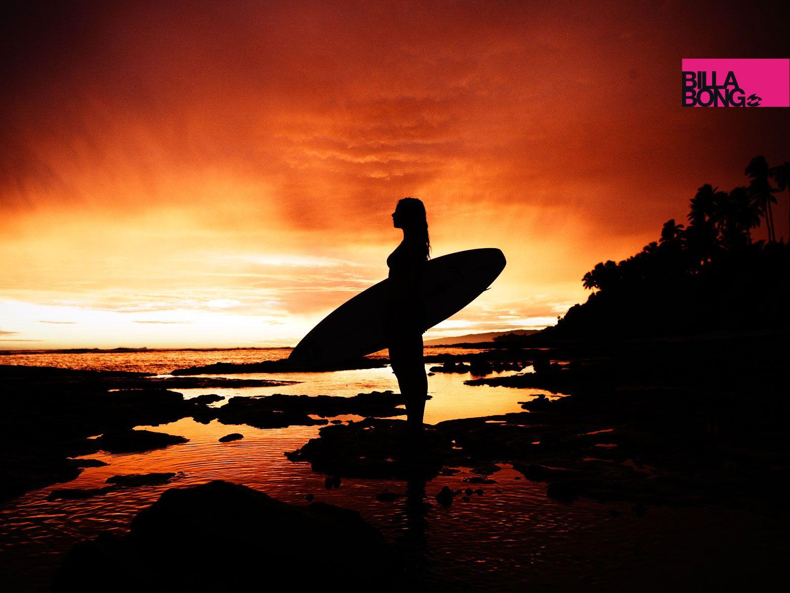 surfer sunset   outrageously orange   pinterest   billabong, surf