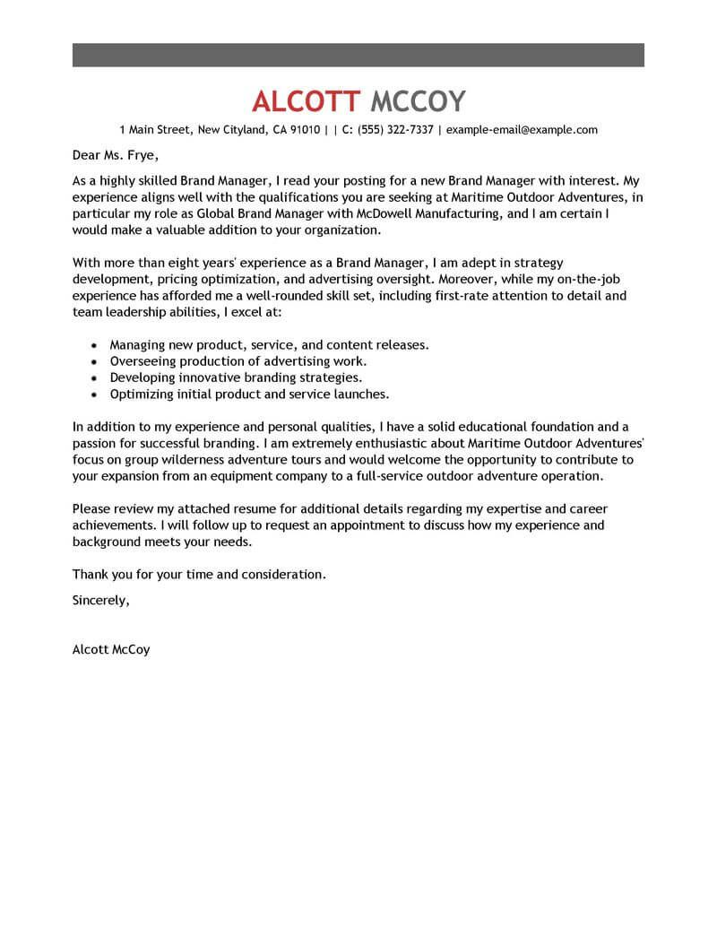 26 Manager Cover Letter Marketing Cover Letter Cover Letter Example Letter Example