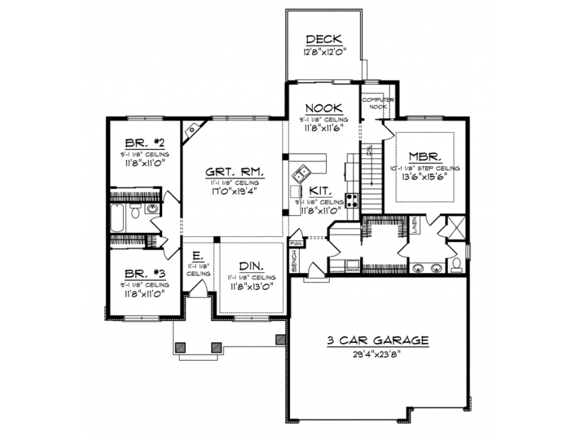 ePlans Ranch House Plan 1884 Square Feet and 3 Bedrooms from
