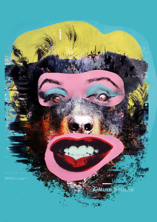 "czar catstick; photomontage, 2013, assemblage / collage ""'A-Muse Bouche'"