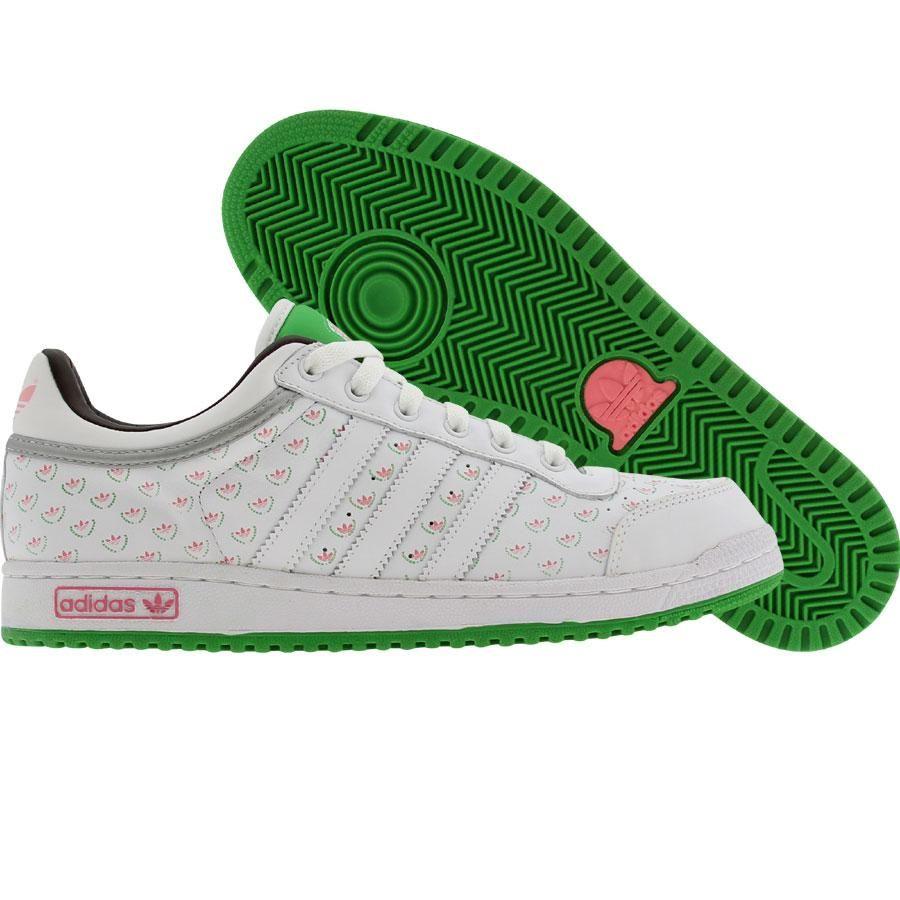 adidas top ten basso (bianco / rosa / verde) 043562 adidas