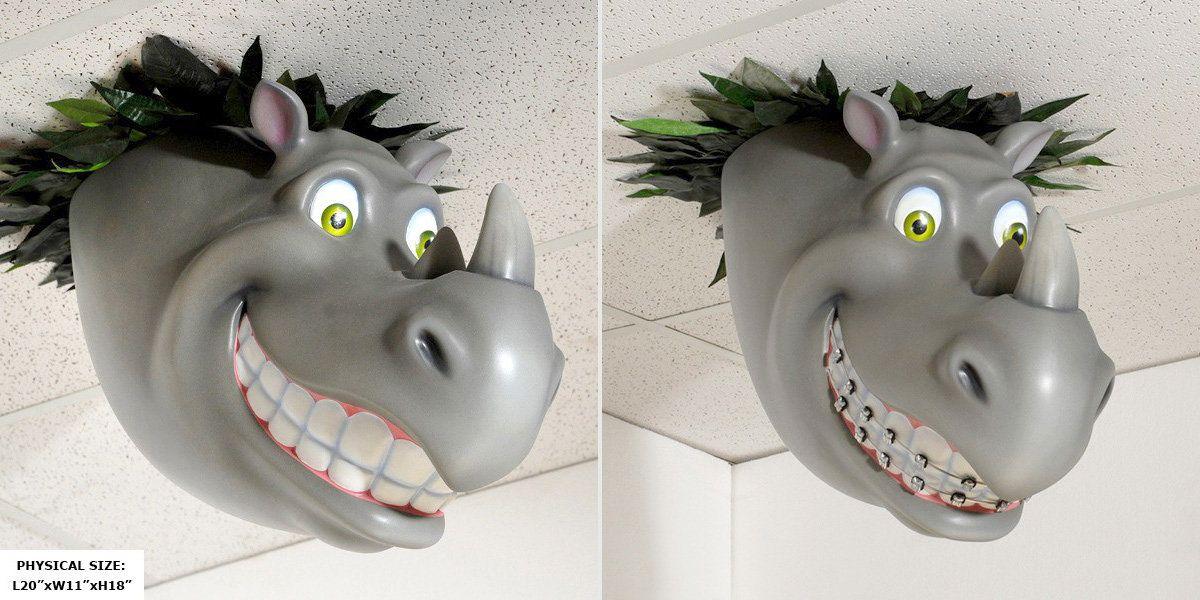 Rhino Smile Tile Imagination Design Studios Pediatric Dental Office Custom Decor