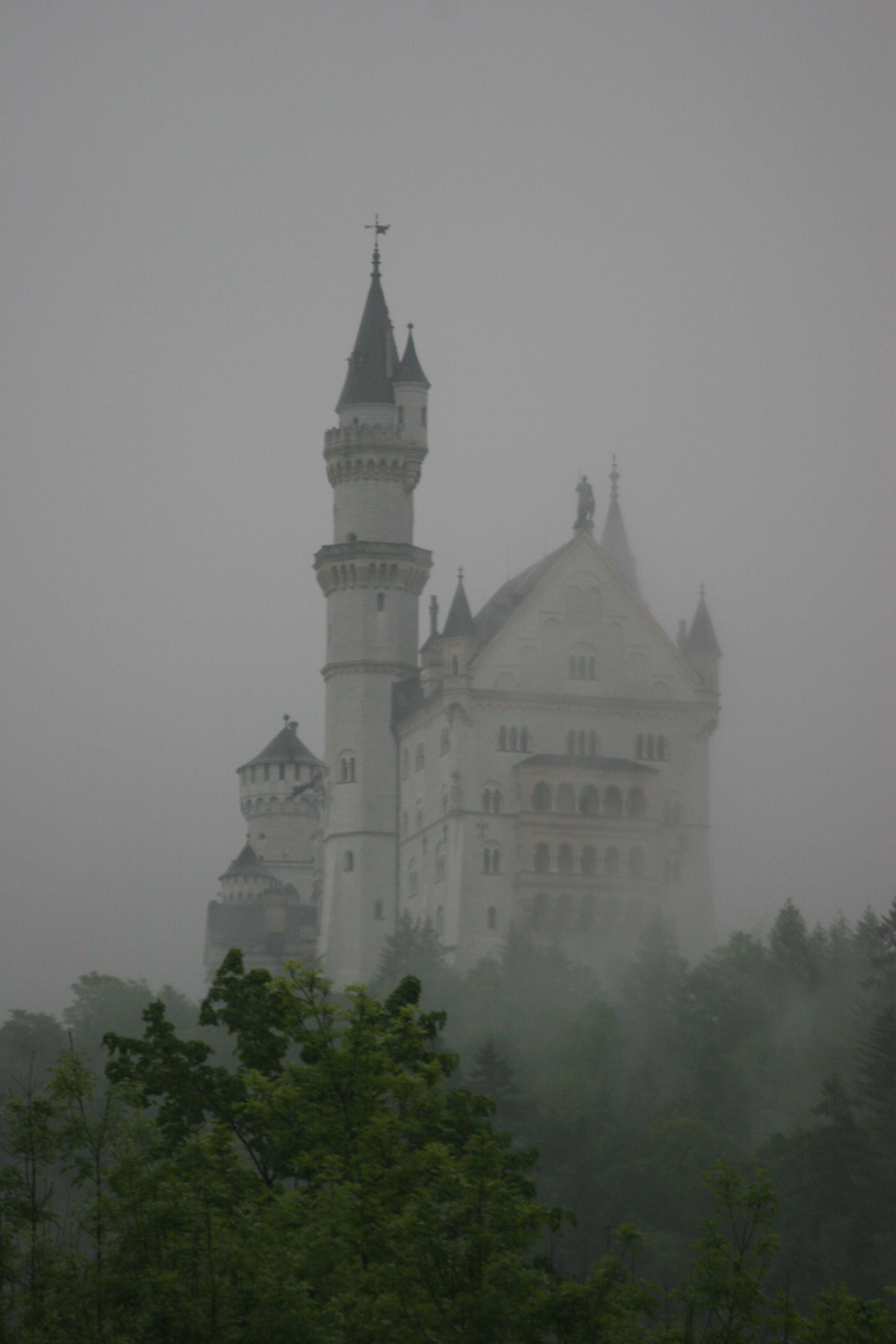 Schloss Neuschwanstein Im Nebel Reisen Ausflug Tagesausflug