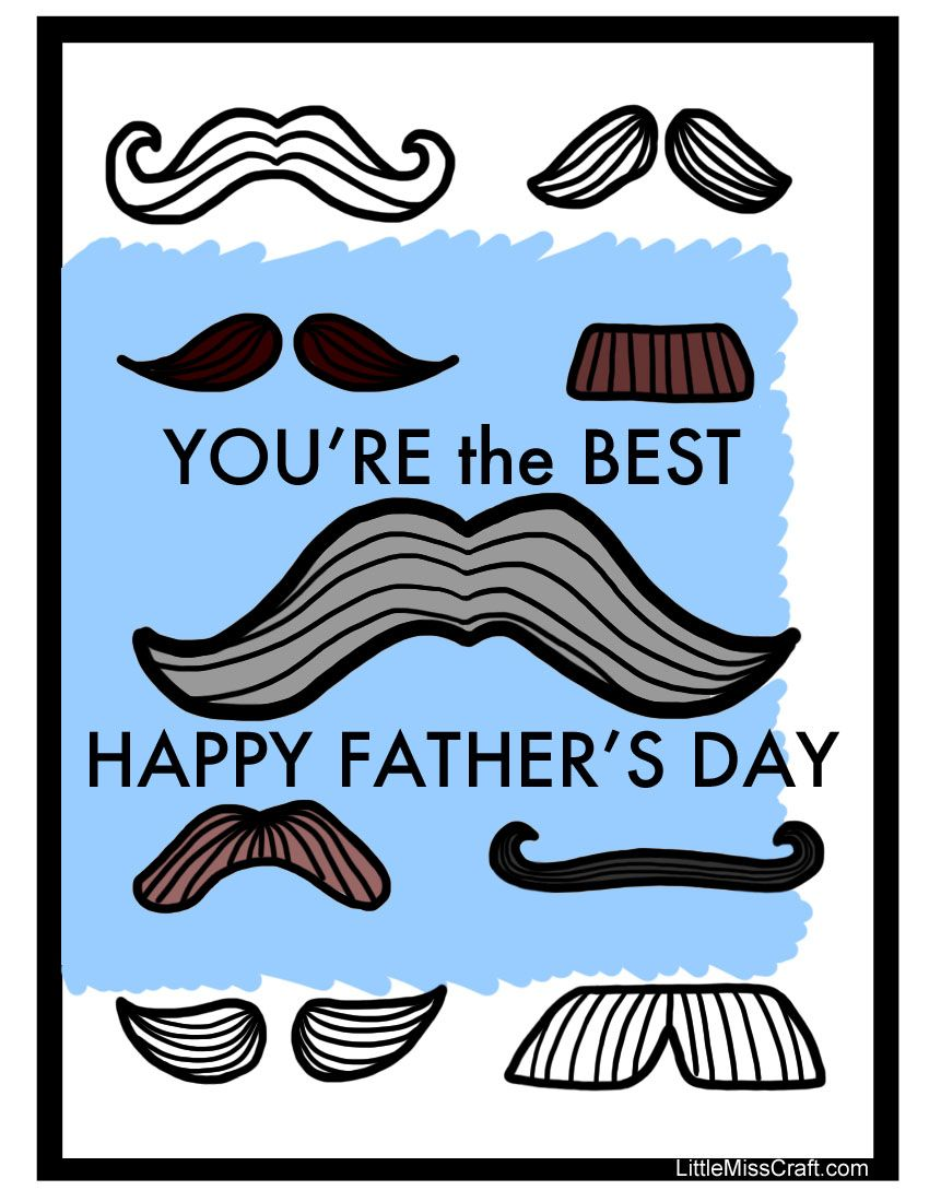 Mustache Coloring Page for Father\'s Day! Print at: http ...