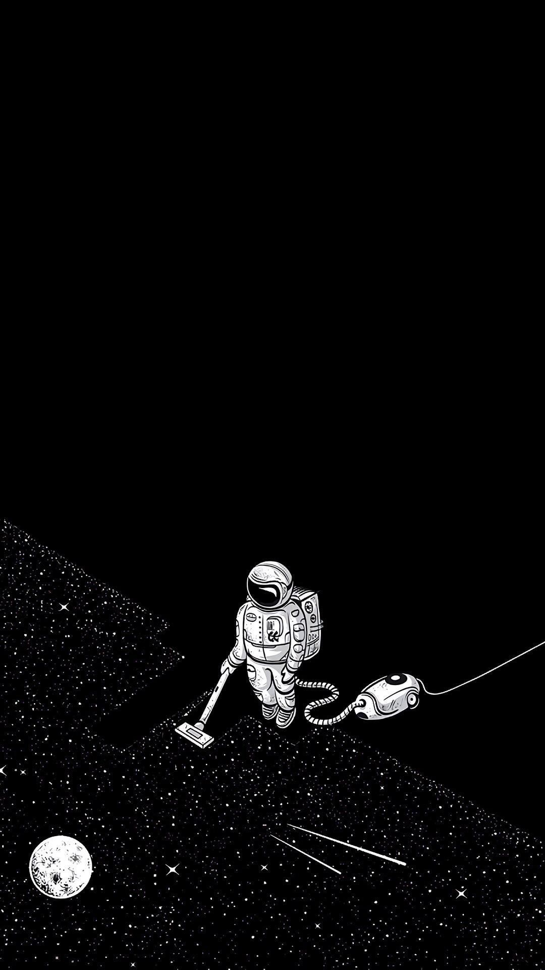 Had This Wallpaper For Some Time Looks Great With Dark Mode For Apple In 2020 Hipster Wallpaper Iphone Wallpaper Tumblr Hipster Astronaut Wallpaper