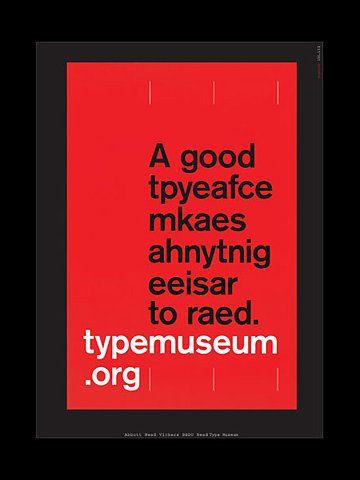A good typeface...