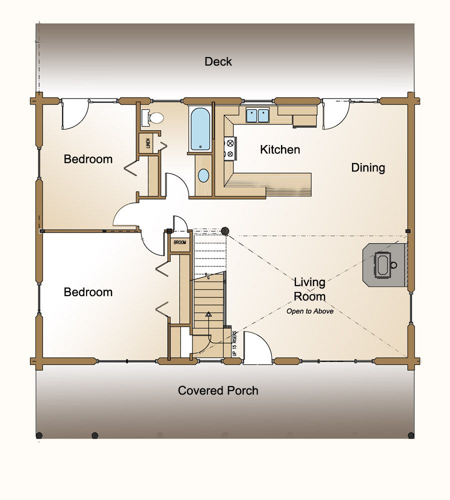 Peachy Design Ideas Small House Open Floor Plans ...