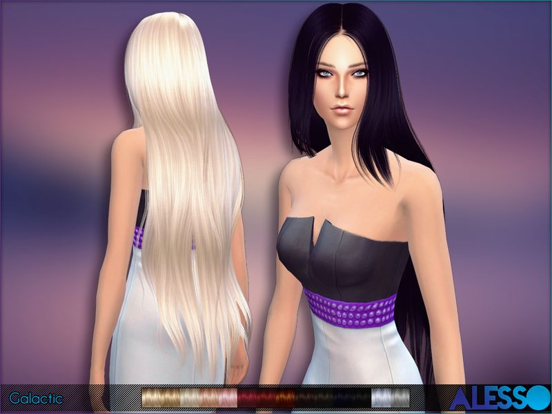 New Super Long Hair For Sims 4 Females And Hat Friendly Found In Tsr Category 39 Sims 4 Female Hairstyles 39 Hair Styles Long Hair Styles Super Long Hair