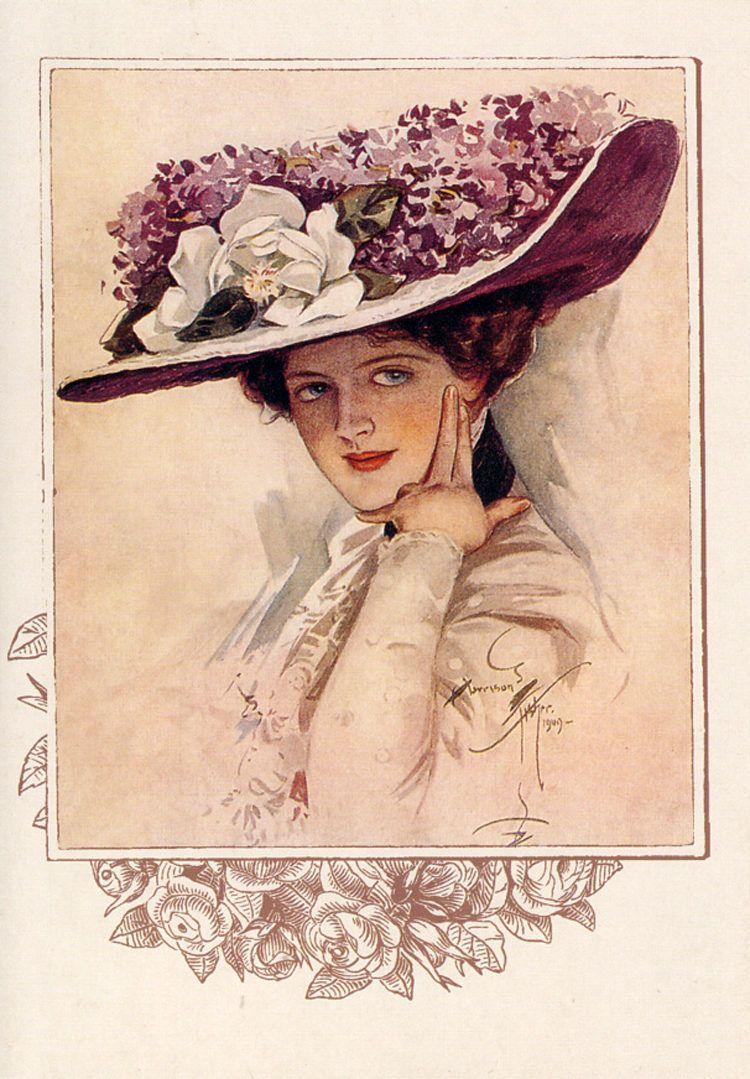 Прекрасная дама открытка