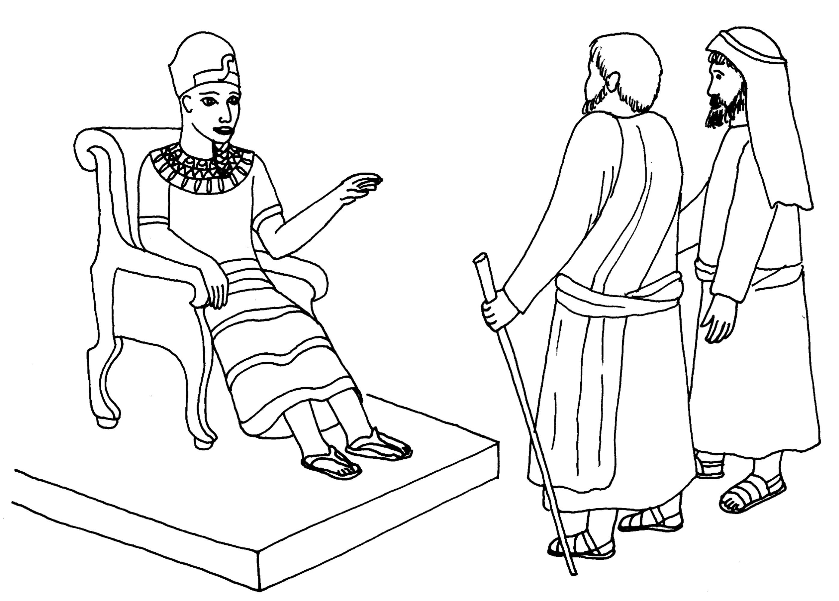 Moses And Aaron Before Pharaoh Coloring Pages Now
