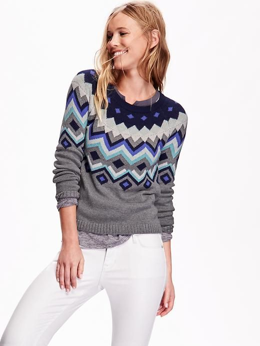 "Womens Fair Isle Sweater This sweater says ""Winter"". Love the ..."