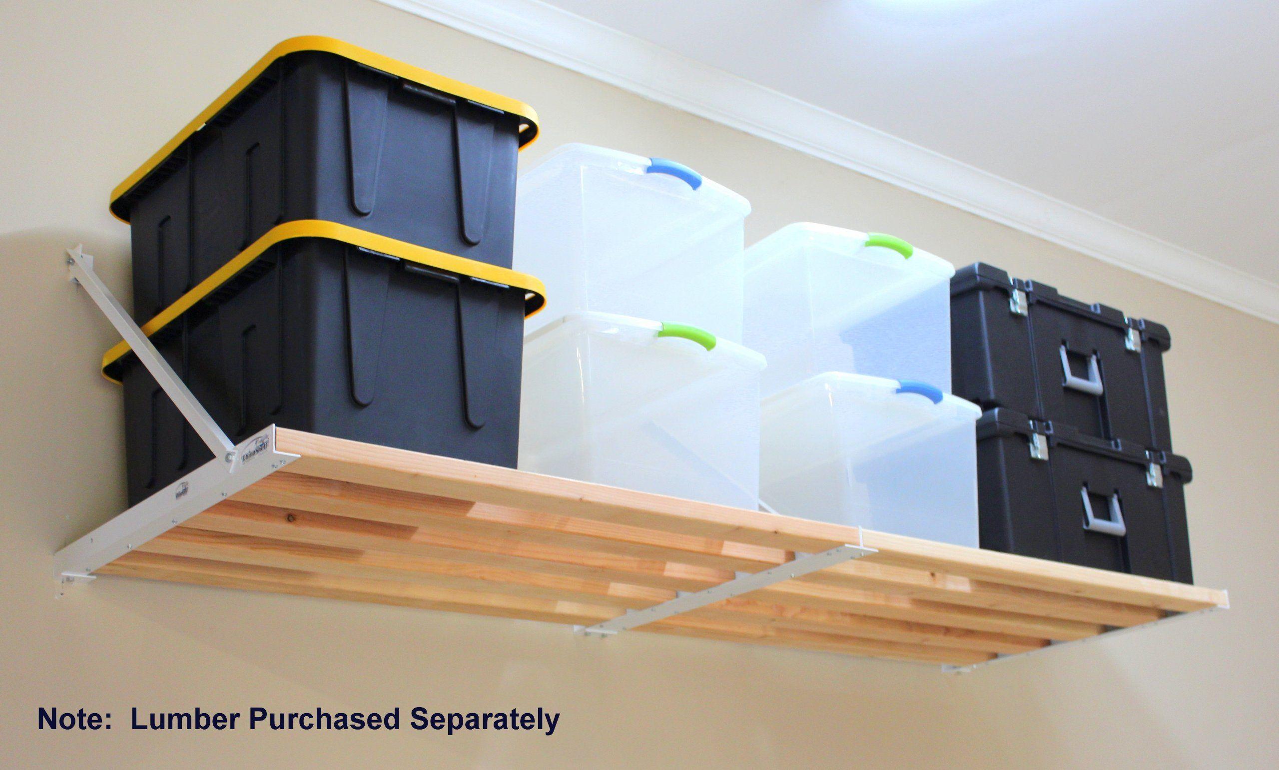 DIY Rhino Shelf Garage Shelves (8 Foot Length) - Full 33.5