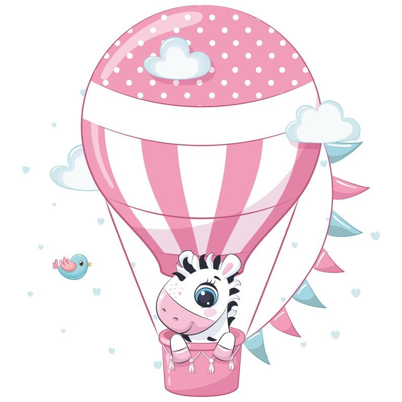 Hot Air Balloon Decorations Png Eps Baby Animal Clipart Etsy Decoration Png Hot Air Balloon Decorations Air Balloon Decoration