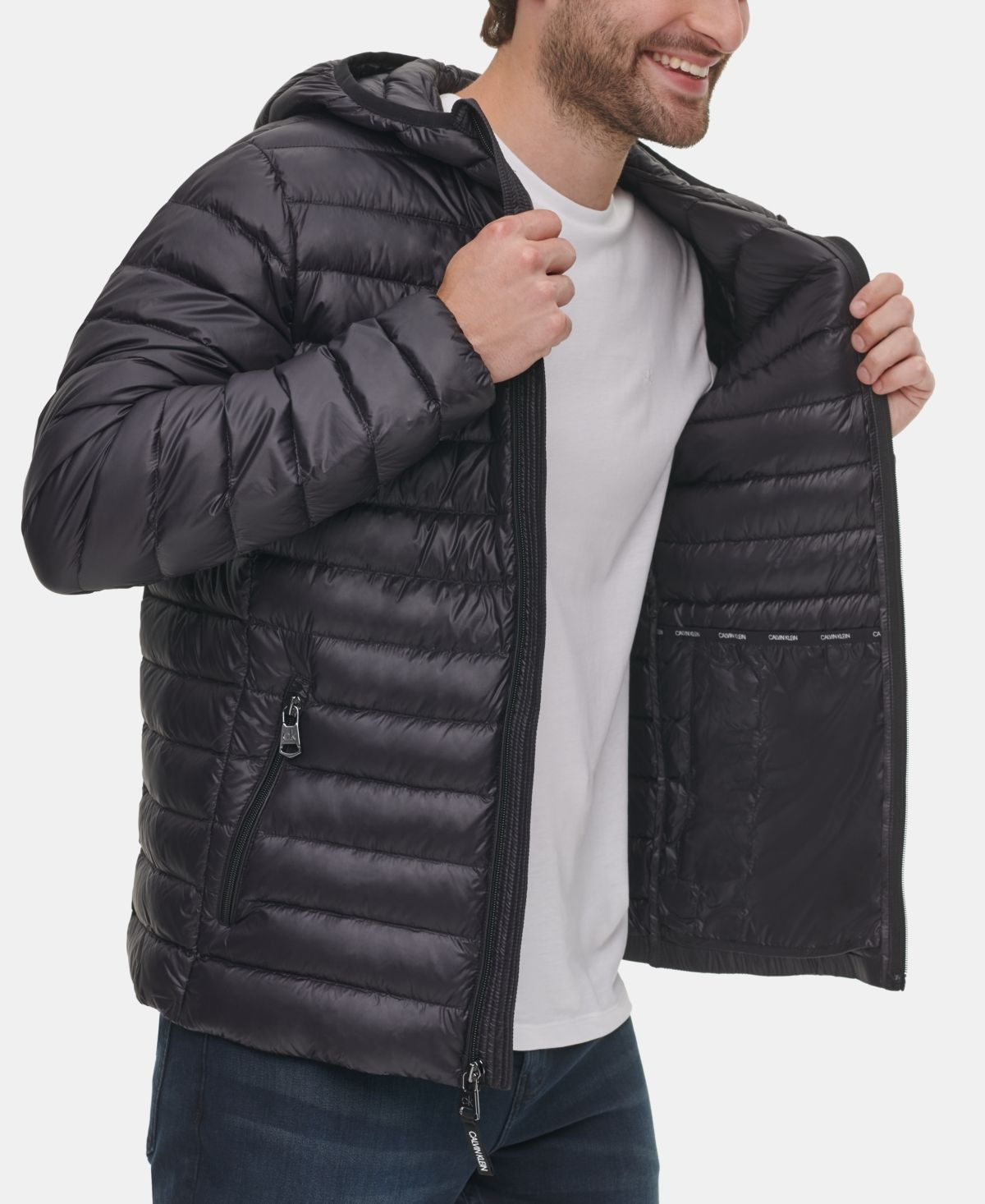 Calvin Klein Men S Packable Down Hooded Puffer Jacket Created For Macy S Reviews Coats Jackets Men Macy S Mens Puffer Jacket Puffer Jacket Men Puffer Jackets [ 1466 x 1200 Pixel ]
