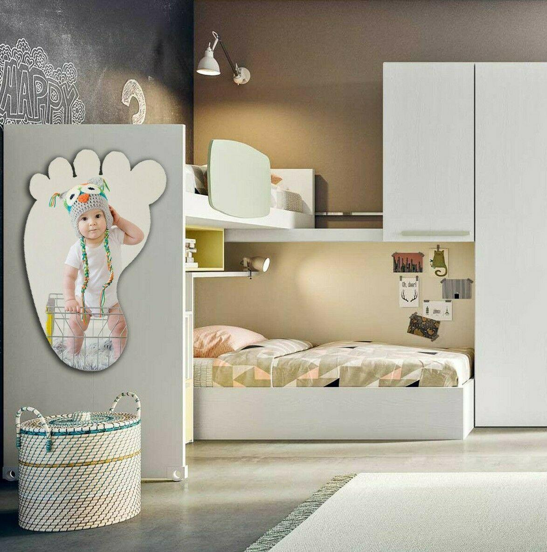 Pannelli Decorativi Per Camerette piedino sagomato con foto personalizzata, misura 50x80 cm