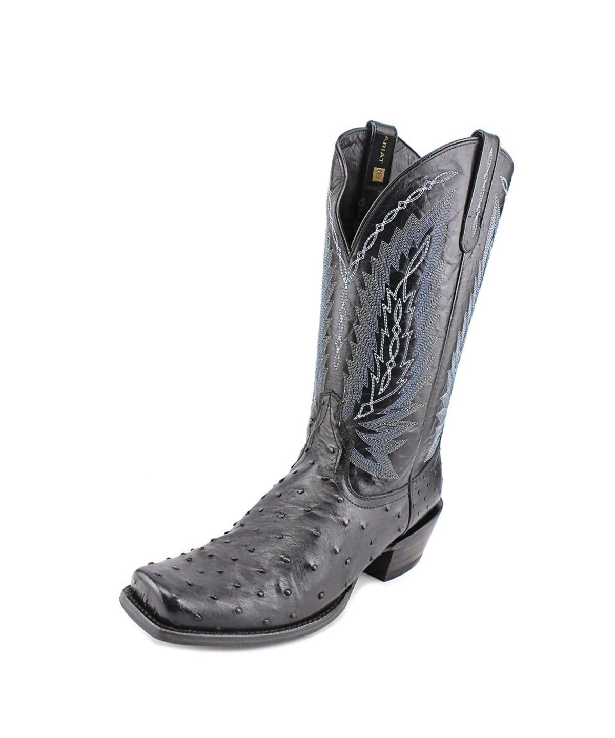 7029c53fe8e ARIAT Ariat Super Stakes Men Square Toe Leather Black Western Boot .  ariat   shoes  boots