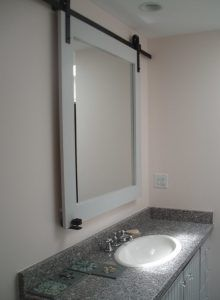 In Love With Barn Doors Use Door Hardware To Make A Sliding Mirror Over