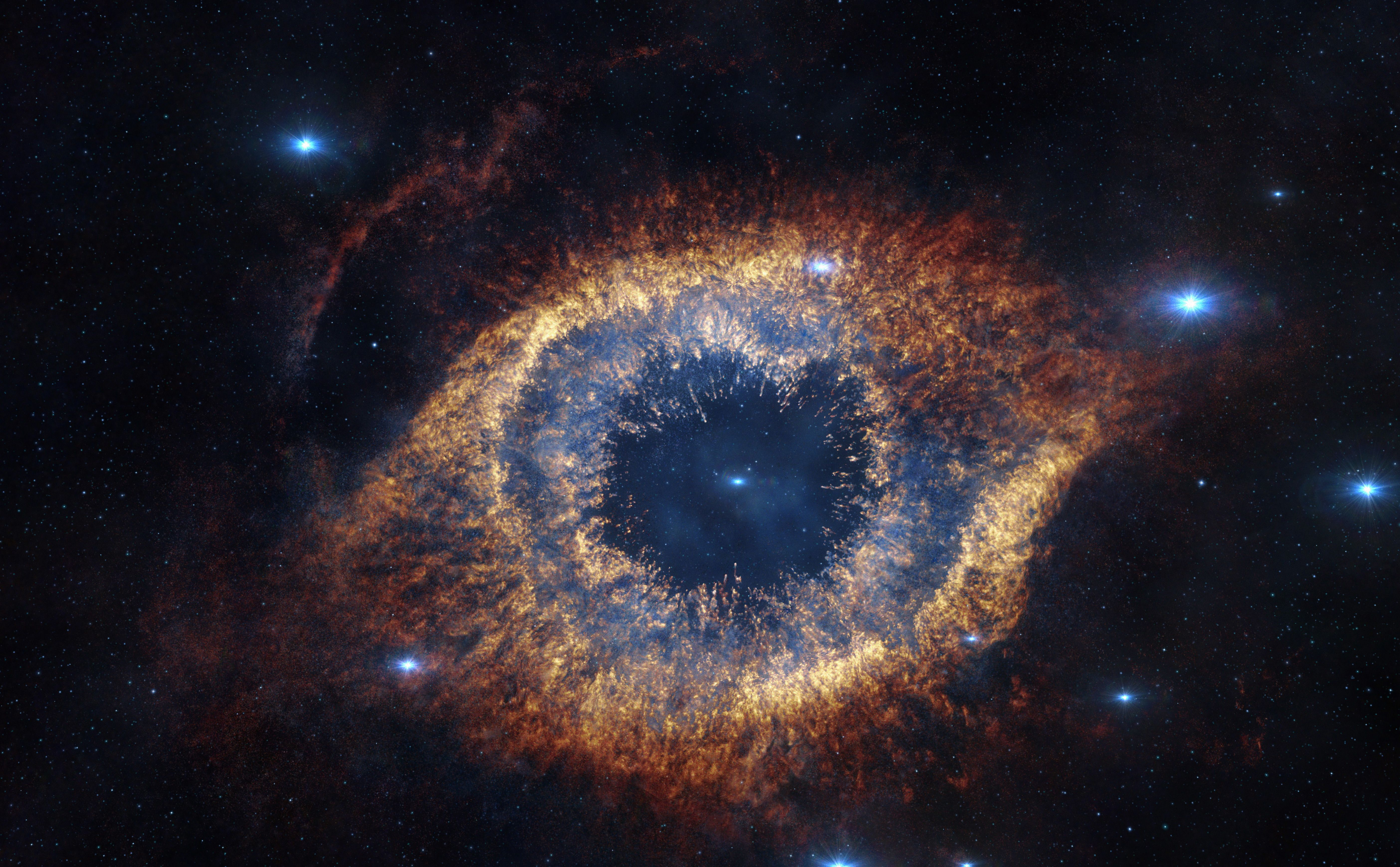 The Helix Nebula is 700 light-years away from Earth, but screened before audience's eyes in reconstructed 3D in Hidden…