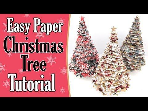 EASY Paper Christmas Tree Tutorial - YouTube CHRISTMAS Pinterest