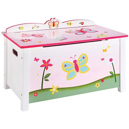Butterfly Buddies Toy Box Walmart Com Kids Furniture Toy Boxes Kids Storage