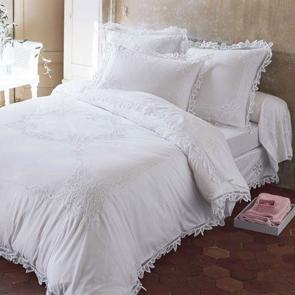 linge de lit eug nie love pinterest lit linge de lit et lit blanc. Black Bedroom Furniture Sets. Home Design Ideas