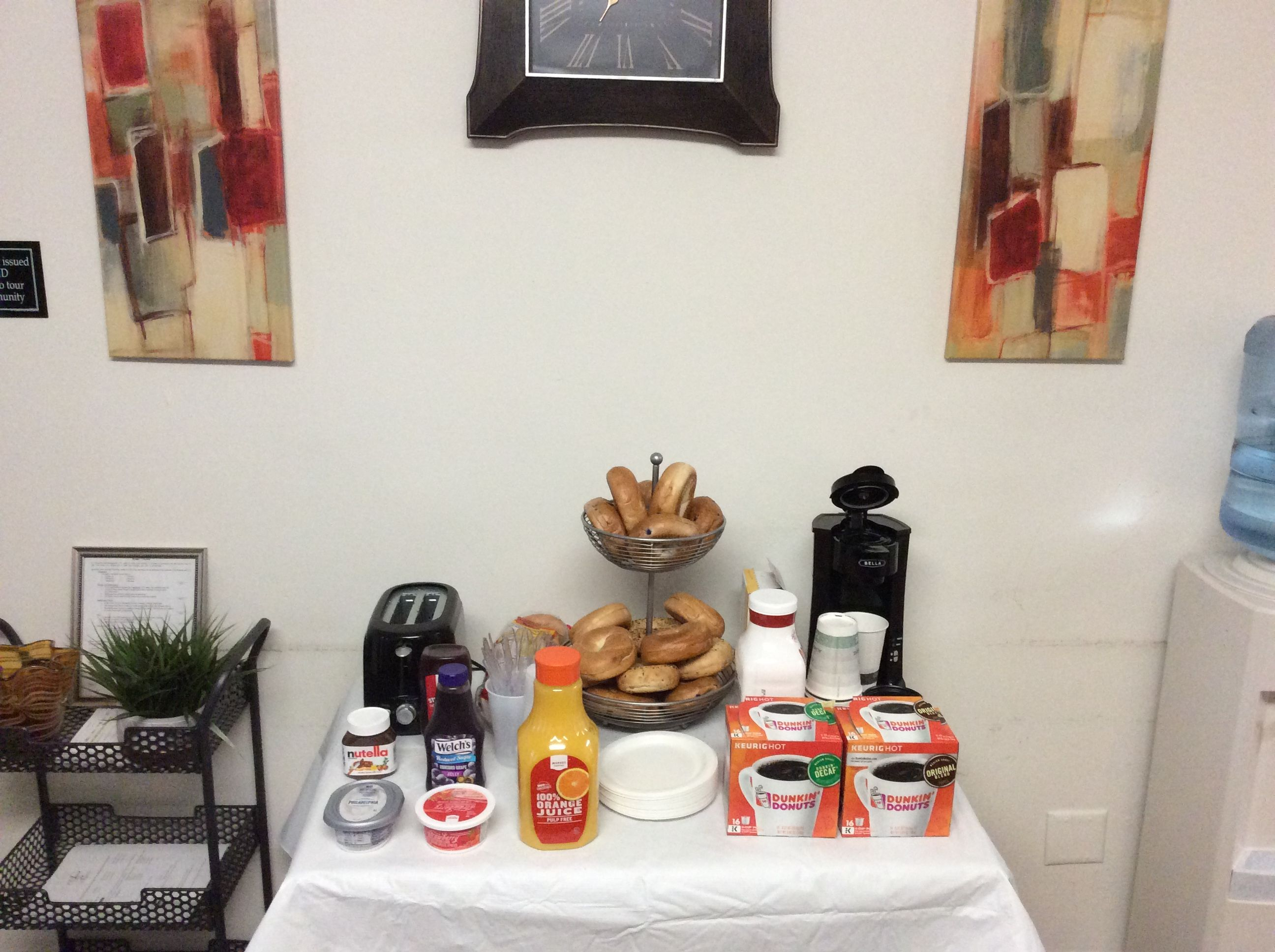 Good Thursday Morning Arbor Pointe Residents! The Bagel